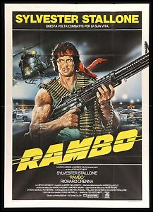Details about FIRST BLOOD * CineMasterpieces RAMBO ITALY ITALIAN MACHINE  GUN MOVIE POSTER 1982