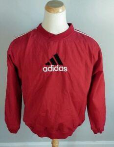 Details about Vintage 90s Big Logo Adidas Pullover Windbreaker Jacket Soccer L Lined