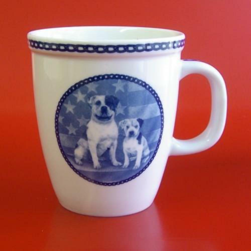 Bulldog Americano-Taza De Porcelana Hecho En Dinamarca