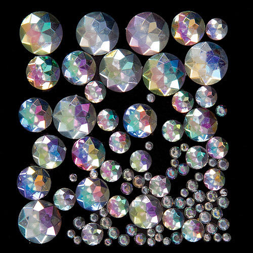Iridescent Acrylic Jewels for Kid's Collage & Card Crafts (Pack of 200)