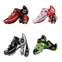 Bicycle Racing Mountain Bike Sports Spd Lock Cycling Shoes Black Red For Men Hot