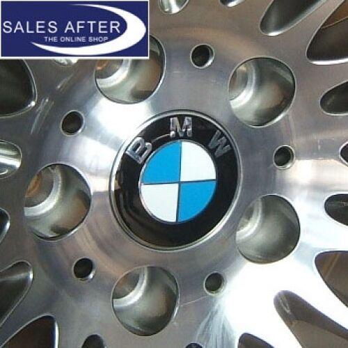 Original BMW Satz Nabenabdeckungen Nabendeckel Felgendeckel Chromrand 4x Embleme