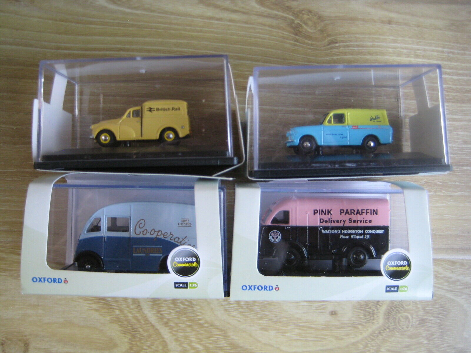 OXFORD DIECAST 1 76th  4 Different COMMERCIAL VEHICLES   LOT 18  FREE POSTAGE