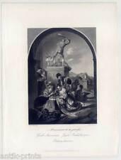 Jugend Beschäftigungen - Stahlstich - Van der Werff 1850