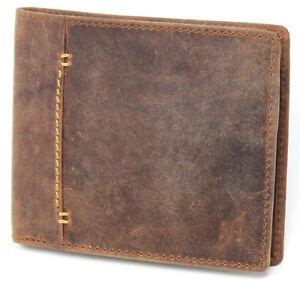 Starhide RFID Designer High Quality Distressed Hunter Leather Wallet 1050 BROWN