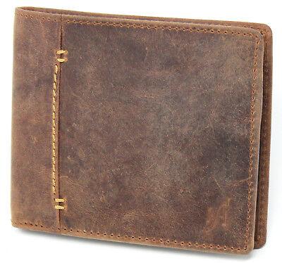 12977ed0b8aa Starhide RFID Designer High Quality Distressed Hunter Leather Wallet 1050  BROWN   eBay