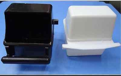 2 X Black Plastic Feeder Nice For Parrot Bird Canary Budge Food Bowl Cage Feeder Grade Producten Volgens Kwaliteit