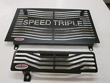 1050 Speed Triple (2010) Black Radiator & Oil Cooler Protectors, Guards,Grills