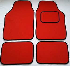 Red Car Mats Black Trim For Peugeot 207 207cc 208 307 307cc 308 | eBay