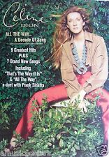 "CELINE DION ""ALL THE WAY"" AUSTRALIAN PROMO POSTER - Contemporary Pop Rock Music"