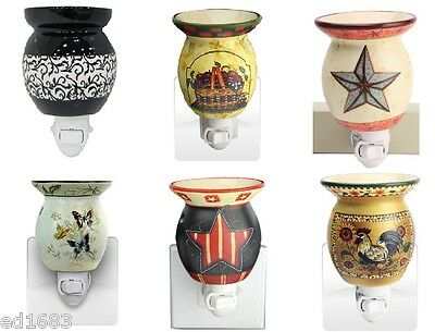 Multicolored Electric Scented Wax Tart Oil Plug In Warmer Burner Night Lamp