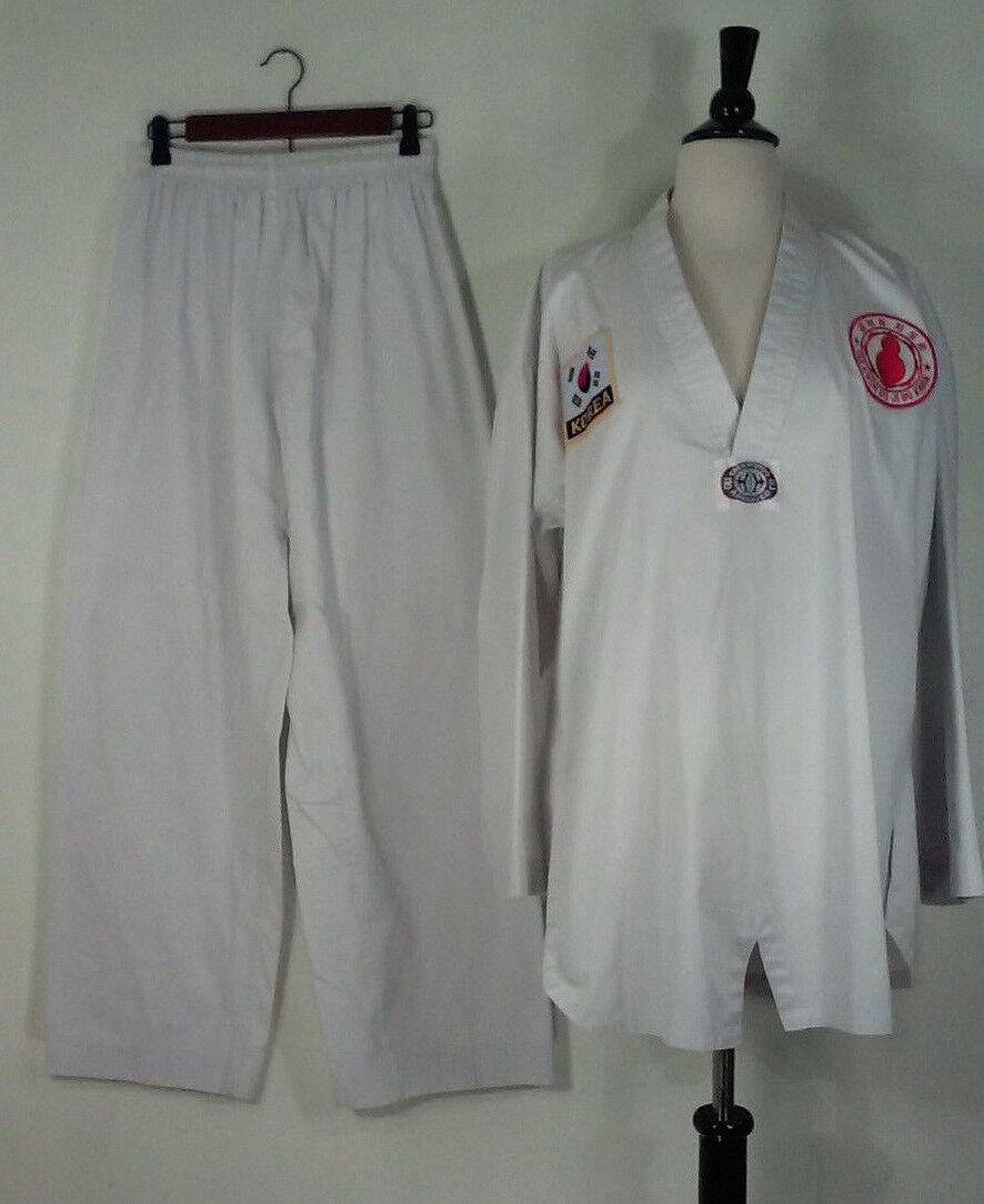 Taekwondo Approved Uniform Shirt and Pants – Size 5 SEE ALL MEASUREMENTS