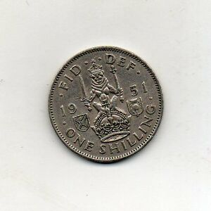 GREAT-BRITAIN-One-Shilling-Scottish-arms-1951