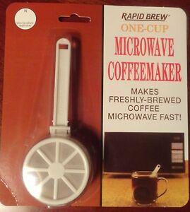 RAPID BREW ONE CUP COFFEE MAKER MICROWAVE 47-333 FAST n FRESH WHITE eBay