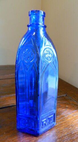 """Antique Carters Cathedral Bottle Cobalt Blue 9-3//4/"""""""