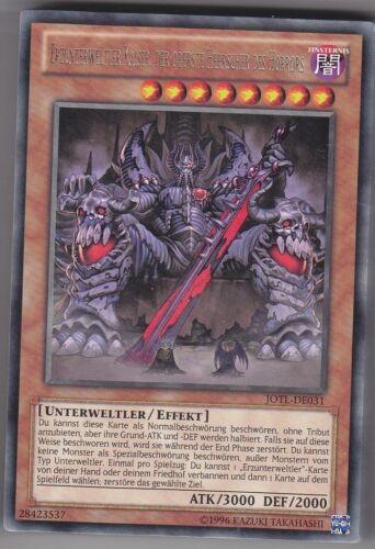 YU-GI-OH Erzunterweltler Kaiser Der Oberste Herrscher des Horrors Rare JOTL-DE31