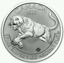 The 2016 Canadian 1oz Cougar 0.999 Silver Bullion Coin
