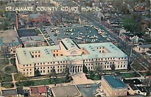 Delaware-County-Court-House-Pennsylvania-aerial-view-Postcard