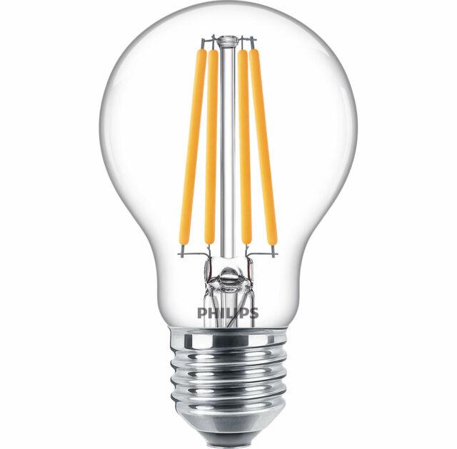 Philips LED Filamento 10,5W=100W E27 15000h Bianco Caldo Gluehfadenoptik Tipo
