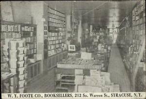 Syracuse-NY-W-Y-Foote-Book-Store-Interior-Warren-St-c1910-Postcard