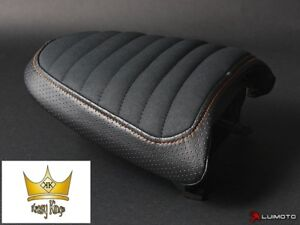 Luimoto Seat Cover Harley Davidson XR1200 08-12 Pillion Saddle Ribbed Stitch