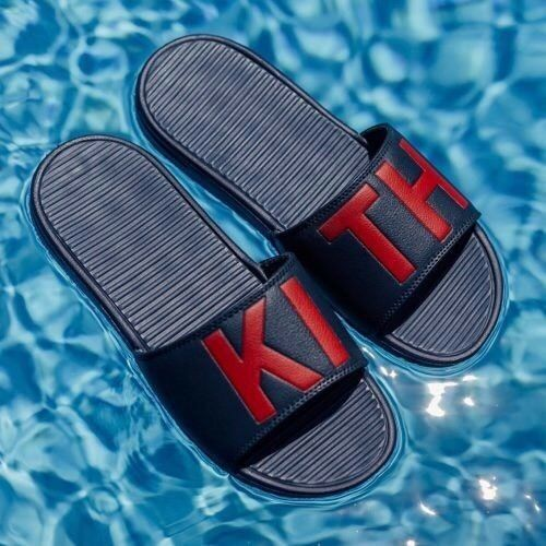 KITH CHANCLETAS - NAVY rouge Taille 9