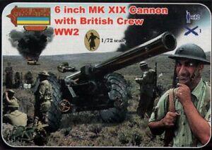 wiederum 1//72 15.2cm mk.xix Cannon mit Britisch Mannschaft Zweiter Weltkrieg