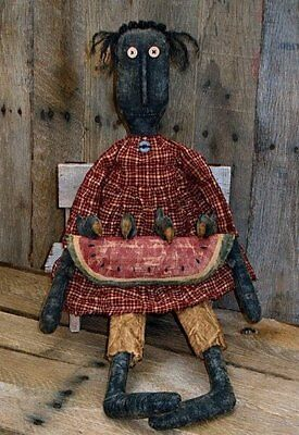PATTERN Primitive Black Prairie Doll Black Church Doll Mammy Doll Ornie Doll