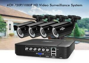Protect your Property !!!  Hiseeu CCTV 4CH 720P/1080P security Camera System, Free Fast Shipping Canada Preview