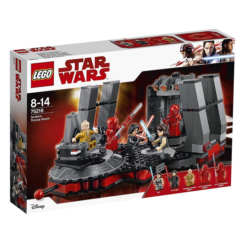 LEGO estrella guerras 75216 snokes sala del  trono novità 2018, OVP  alta quaità