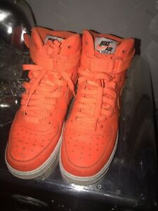 Nike Air Force 1 High Sneakers in Gr.39 Turnschuhe Orange