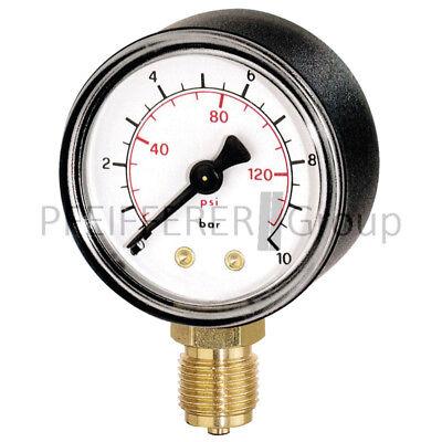 Air Pressure Gauges Tireless Pneumatik Manometer M-su-50-1/0-1/4-ku-bar/hg Rohrfedermanometer Great Varieties