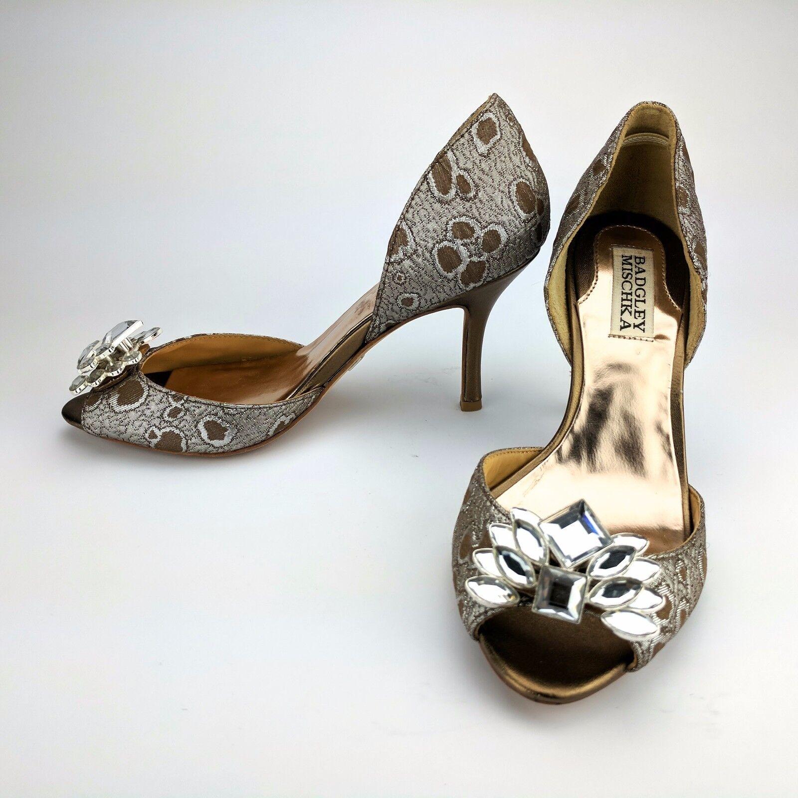 Badgley Mischka Cristal Peep Toe Zapatos de tacón tacón tacón bombas de edición limitada d 'Orsay Talla 6 M  ordenar ahora