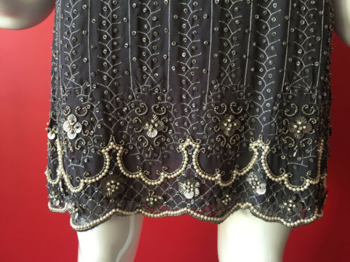 62ce9c3d3b59 5 of 12 Oasis Vintage Grey Flapper 1920s Gatsby Beaded Sequin Dress Size 14  EUR 40 BNWT