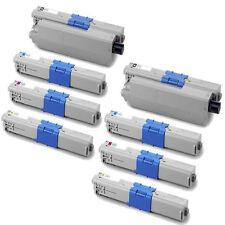 8-Pack Toner Set for Okidata Oki C330dn C330 MC351 MC361dn MC362w 44469801