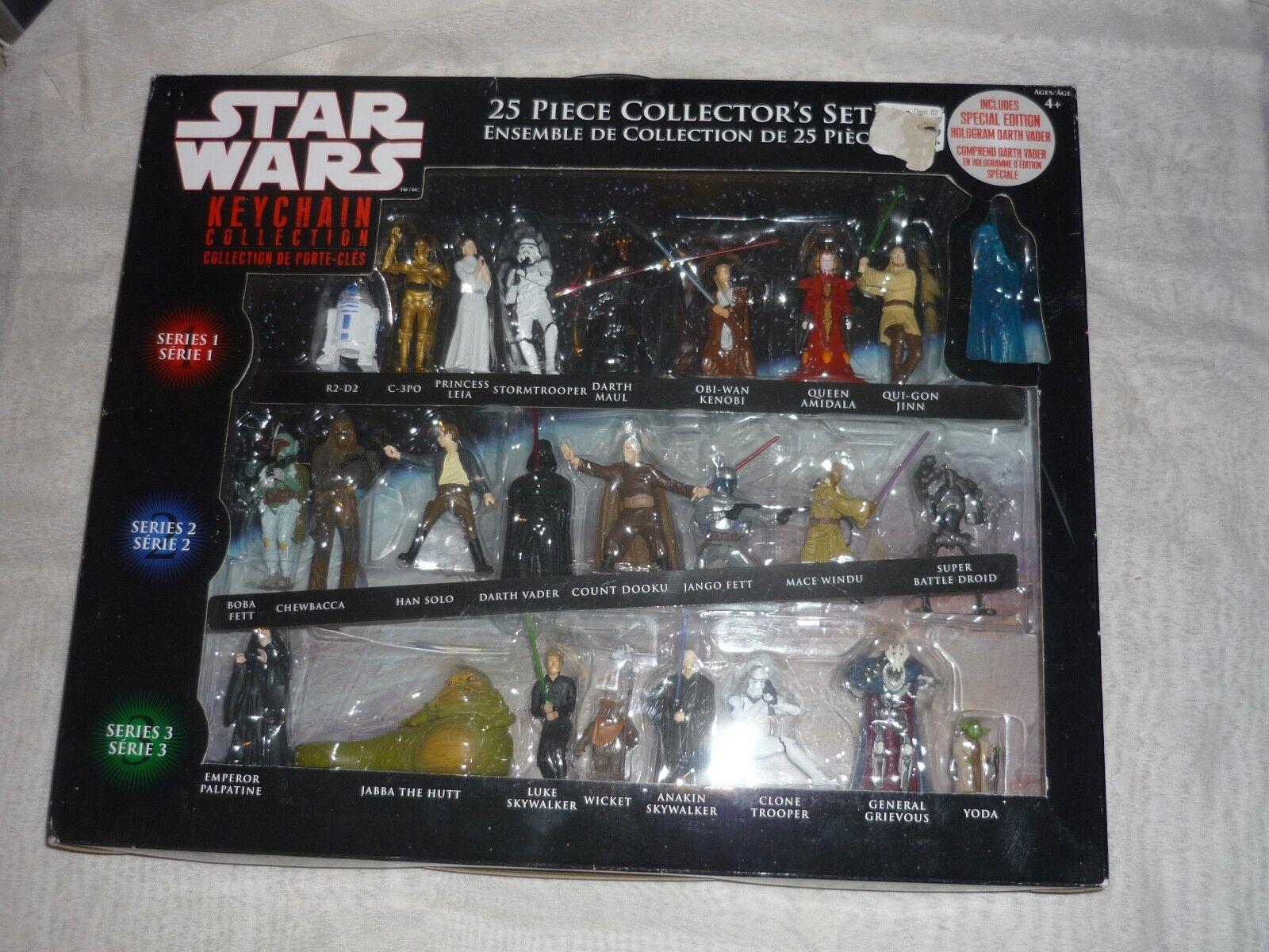 HUGE 25pc STAR WARS Keychain Collection Still in Box
