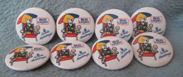 Miraculous Lot Of 8 Bud Light Spuds Mackenzie Beach 1 5 Buttons Pins Budweiser Button Spiritservingveterans Wood Chair Design Ideas Spiritservingveteransorg