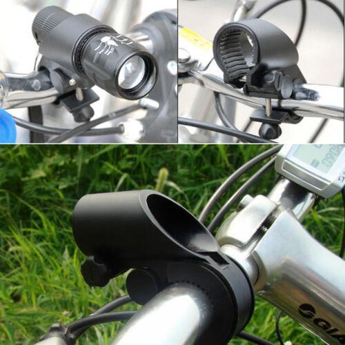 Plastic Bike Bicycle Cycling Handlebar Flashlight Lamp Holders Mounts Rack Black