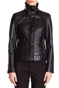 L Front Genuine Cole Sz 500 Jacket Zip Black Haan Women's Lambskin wf4zOSP