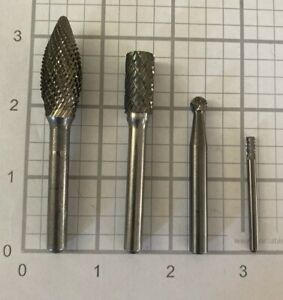 ROUND BALL SHANK CARBIDE BURR {L248} .250 USA MADE DOUBLE CUT 1 NEW 1//4/""
