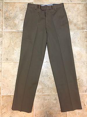 NEW KIRKLAND SIGNATURE Men's Classic Fit Flat Front Dress PANTS 30x34 Slacks