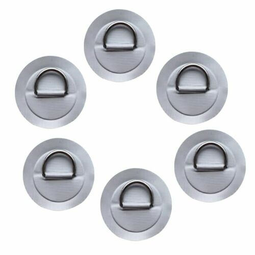 D Ring Patch 6pcs Stainless Steel Durable PVC Inflatable Boat Raft Surfboard Pad