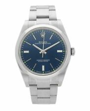Rolex Oyster Perpetual 39mm Blue Dial Stainless Steel Men's Watch 114300