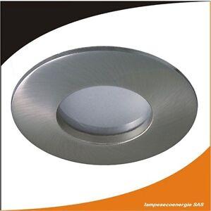 Fixation-Spot-Encastrable-Alu-Brosse-SDB-Pieces-humide-IP65-Choix-de-Douille