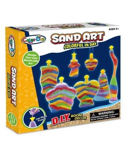 haz tu propia Grande 7 Botella De Arena Arte Arte conjunto Diversión Craft Actividad vendedor del Reino Unido.