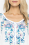 Beautiful-JOHNNY-WAS-Floral-Embroidered-BLUE-MOON-Button-Neck-Tunic-S-228 thumbnail 11