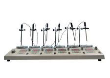 Techtongda 110v 6 Heads Digital Magnetic Heating Stirrer With Hotplate