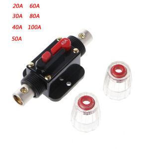 dc 20a 100a 12v car audio solar energy inline circuit breaker reset rh ebay com