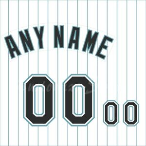Details about Baseball Florida Marlins 1993-2001 White Jersey Customized Number Kit un-sewn