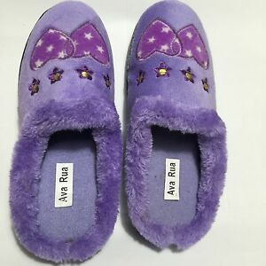 Ladies-Synthetic-Fur-Slippers-BNIB-Uk-Size-6-Purple-Colour-Beautiful-And-Comfy